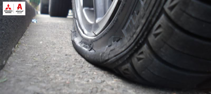 tire puncture پنچر شدن